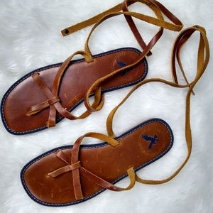 American Eagle outfitters leather Sandals